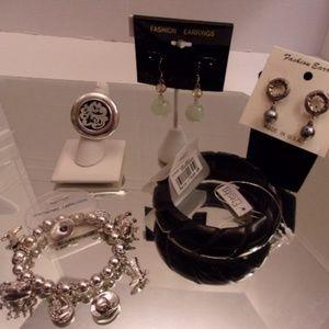 Jewelry - NWTS UNIQUE EARRINGS BRACELETS & RING LOT $80 RETA